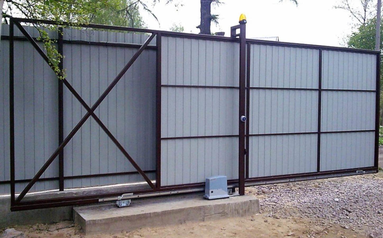 Установка автоматических откатных ворот в Киеве